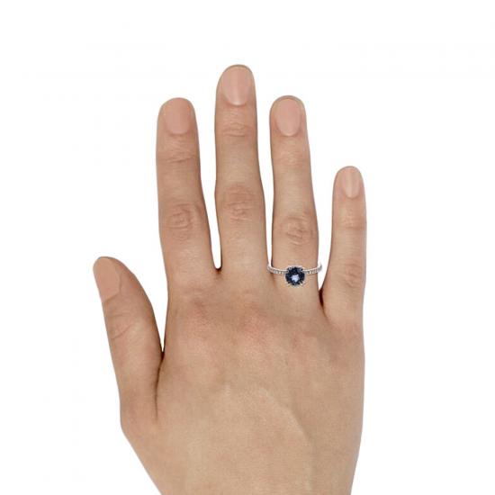 Кольцо с серой шпинелью,  Больше Изображение 4