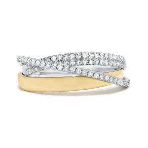 Кольцо из комбинированного золота с бриллиантами - Фото 1