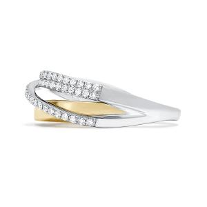 Кольцо из комбинированного золота с бриллиантами - Фото 2