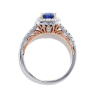 Кольцо с танзанитом кушон в бриллиантовом ореоле, Изображение 2
