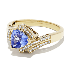 Кольцо с танзанитом 1,90 кт и бриллиантами