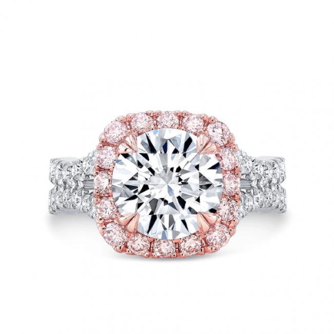 Кольцо с белым бриллиантом