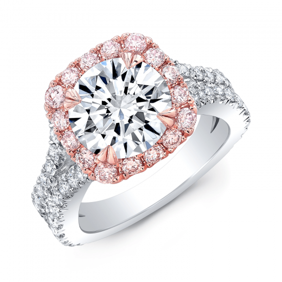 Кольцо с белым бриллиантом,  Больше Изображение 2
