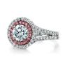 Кольцо с бриллиантом в двойном ореоле, Изображение 3