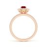 Кольцо лвойное с рубином и бриллиантами, Изображение 2