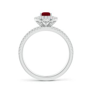 Кольцо с рубином Груша и бриллиантами