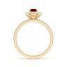 Кольцо двойное из золота с рубином и бриллиантами, Изображение 2