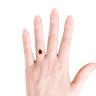 Кольцо с рубином Капля и бриллиантами, Изображение 4