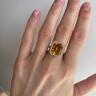 Кольцо с прямоугольным цитрином 5 карат, Изображение 5