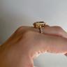 Кольцо с прямоугольным цитрином 5 карат, Изображение 3