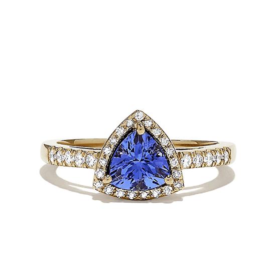 Кольцо с танзанитом и бриллиантами, Больше Изображение 1