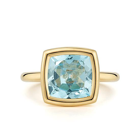 Кольцо с голубым топазом, Больше Изображение 1