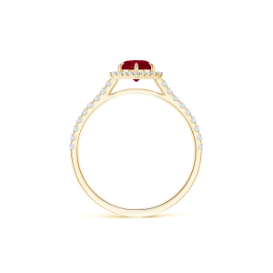 Кольцо золотое с рубином и бриллиантами Miel