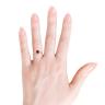 Кольцо с рубином и бриллиантами из золота, Изображение 4