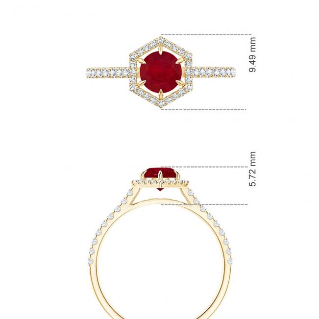 Кольцо с рубином и бриллиантами Miel