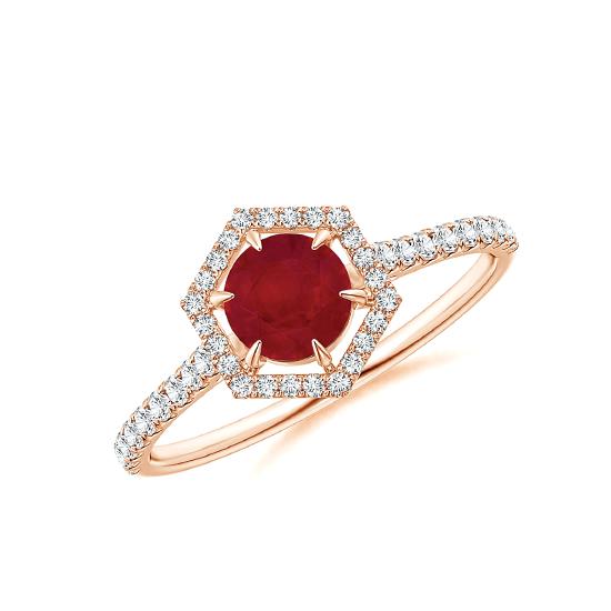 Кольцо с рубином и бриллиантами Miel, Больше Изображение 1
