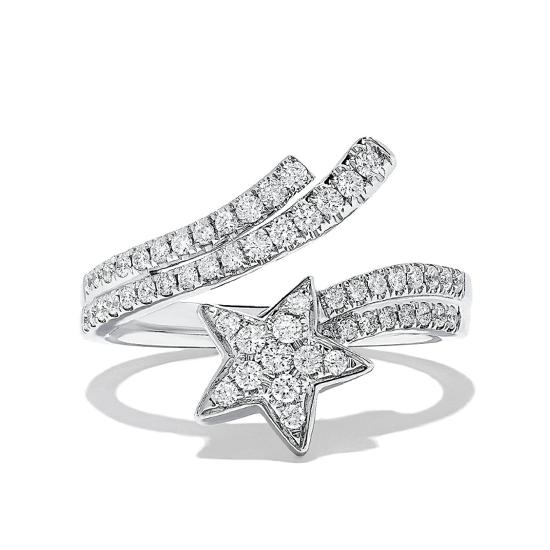 Кольцо с бриллиантами Комета, Больше Изображение 1