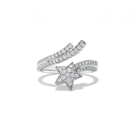 Кольцо с бриллиантами Комета,  Больше Изображение 4