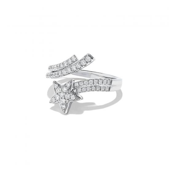 Кольцо с бриллиантами Комета,  Больше Изображение 2