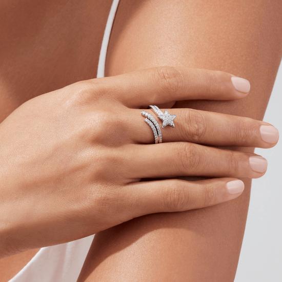 Кольцо с бриллиантами Комета,  Больше Изображение 3