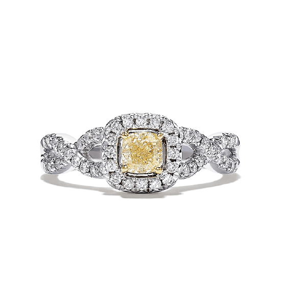 Кольцо с желтым бриллиантом, Больше Изображение 1