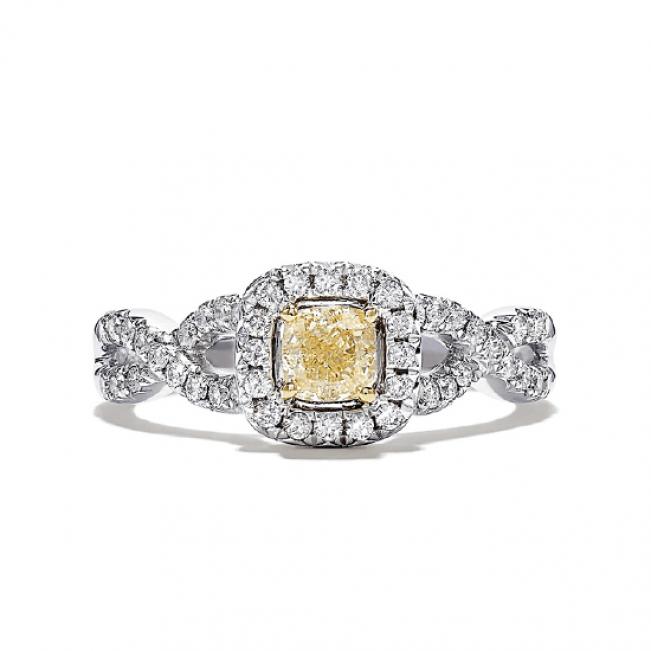 Кольцо с желтым бриллиантом 0.5 карат