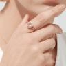 Кольцо Сердечко с морганитом, Изображение 3