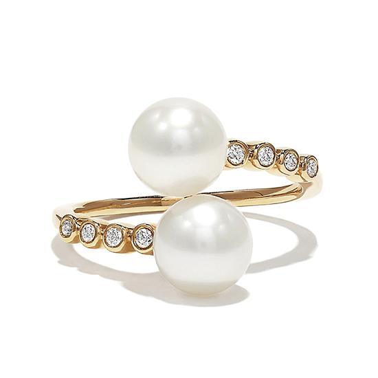 Кольцо с жемчугом и бриллиантами, Больше Изображение 1