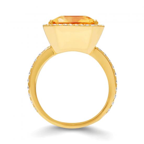 Кольцо с цитрином 7.84 карата,  Больше Изображение 2