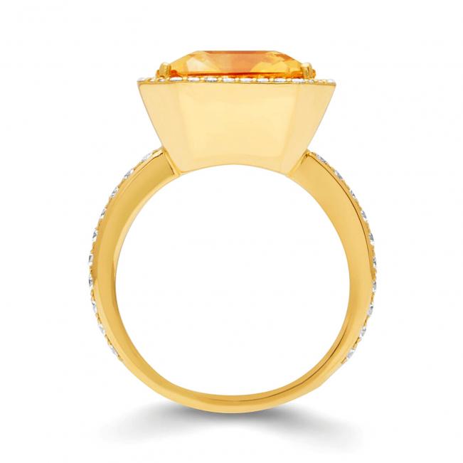 Кольцо с цитрином 7.84 карата