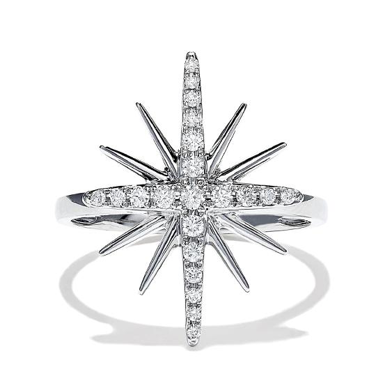 Кольцо Звезда с бриллиантами, Больше Изображение 1