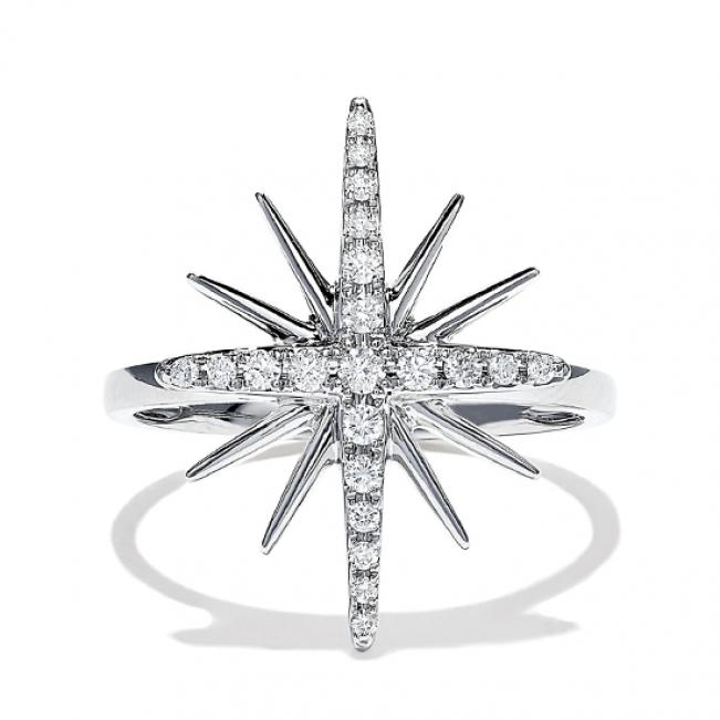 Кольцо Звезда с бриллиантами