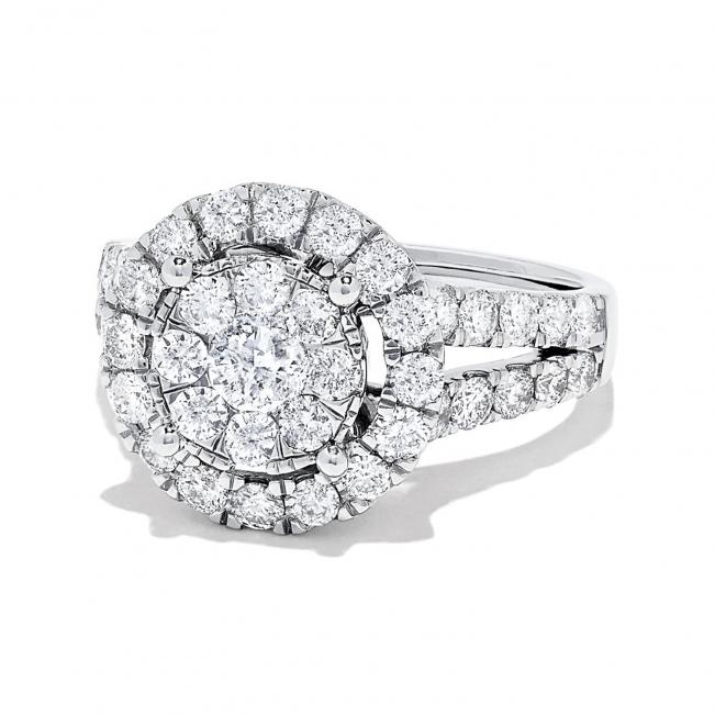 Кольцо малинка с бриллиантами 1.94 карат - Фото 1