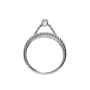 Кольцо дорожка с бриллиантами и цепочкой - Фото 1