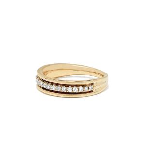 Кольцо полудорожка с бриллиантами