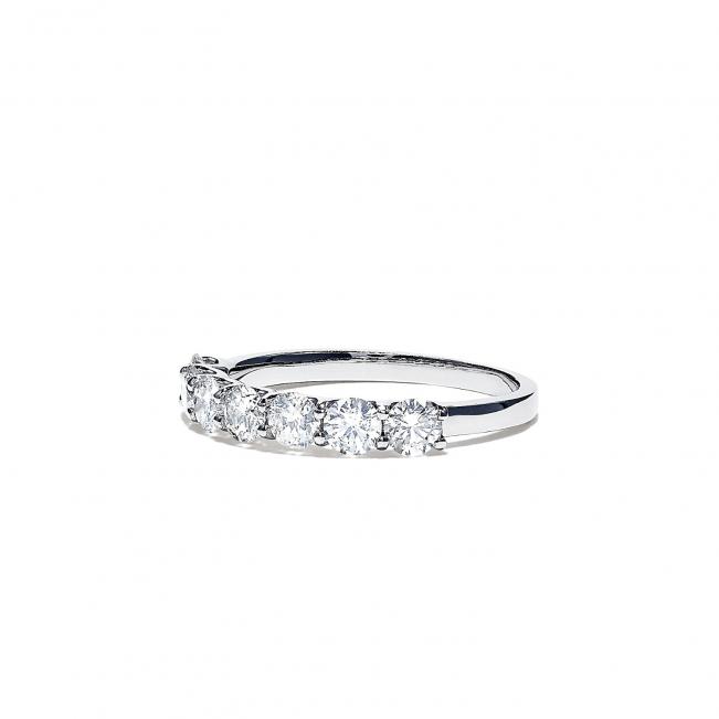 Кольцо дорожка с 7 круглыми бриллиантами