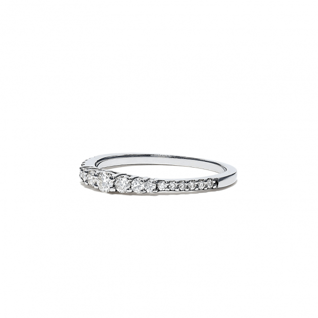 Кольцо дорожка с бриллиантами 0.31 кт - Фото 2