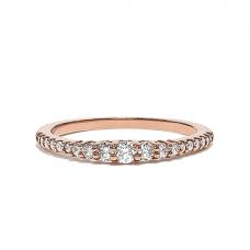Кольцо дорожка с бриллиантами 0.31 кт из розового золота