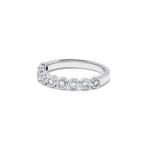 Кольцо дорожка с 9 бриллиантами 0.55 карата - Фото 1