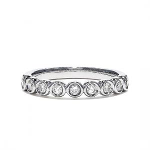 Кольцо дорожка с 9 бриллиантами 0.35 карата