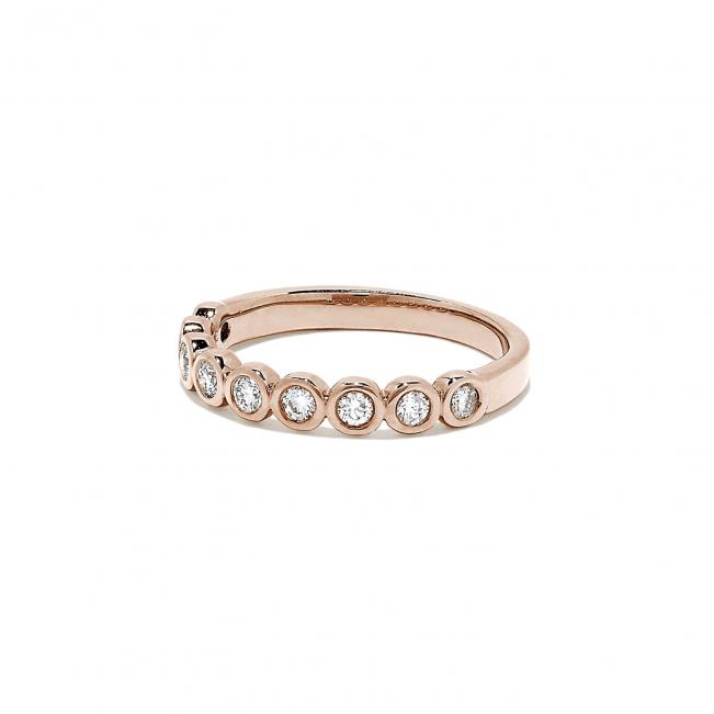 Кольцо дорожка с 9 бриллиантами