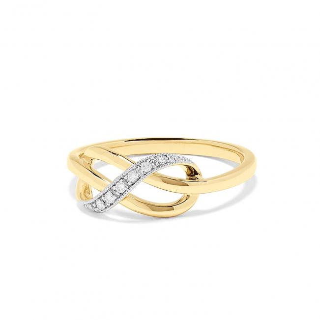 Кольцо Узелок с бриллиантами - Фото 1