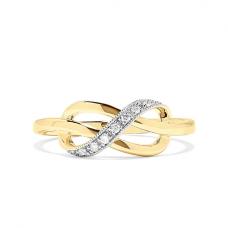 Кольцо Узелок с бриллиантами