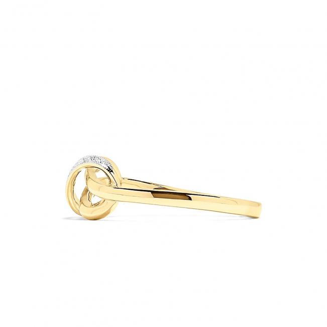 Кольцо Узелок с бриллиантами - Фото 2