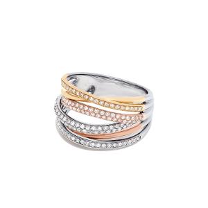Кольцо из 3 видов золота