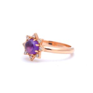 Кольцо с аметистом Звезда