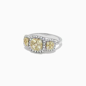 Кольцо с желтым бриллиантом - Фото 1