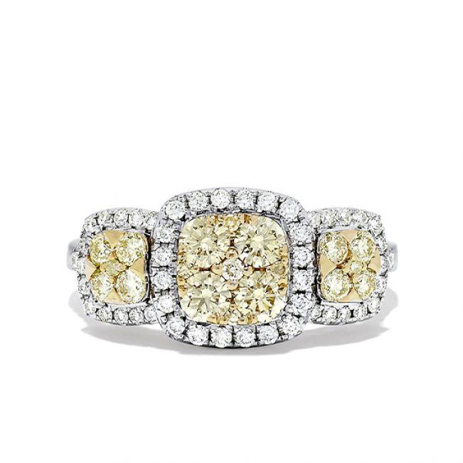 Кольцо с желтым бриллиантом