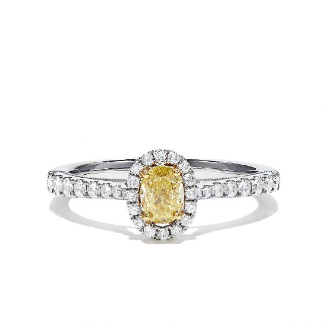 Кольцо с желтым бриллиантом Овал 0.75 кт