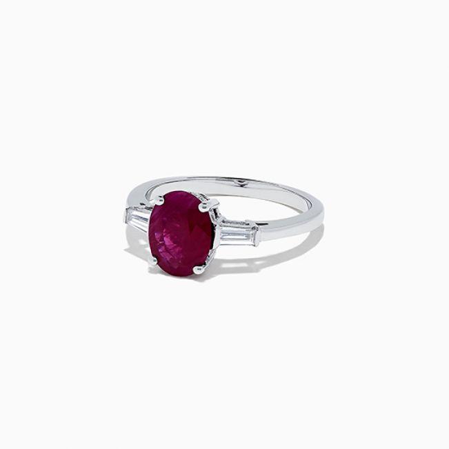 Кольцо с рубином - Фото 1